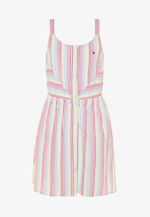 STRIPE DRESS  - Korte jurk - white