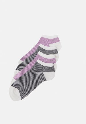 SNEAKER 4 PACK - Socks - pink/black