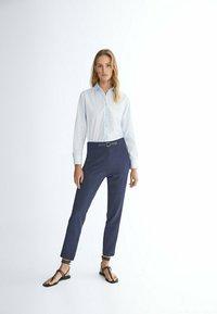 Massimo Dutti - FLANELL  - Pantalon classique - dark blue - 1