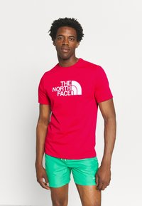 The North Face - M S/S EASY TEE - EU - T-shirt med print - rococco red - 0
