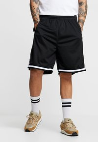 Urban Classics - PREMIUM STRIPES - Shorts - black - 0