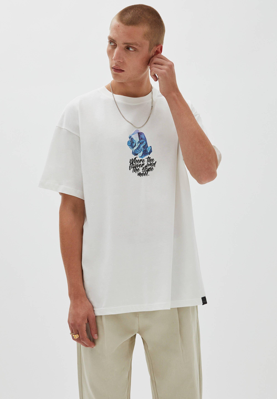Herren BLUMEN - T-Shirt print