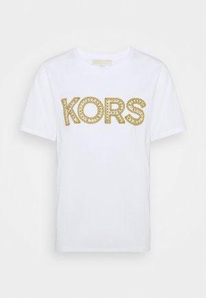 STUDDED CLASSIC TEE - T-shirts med print - white