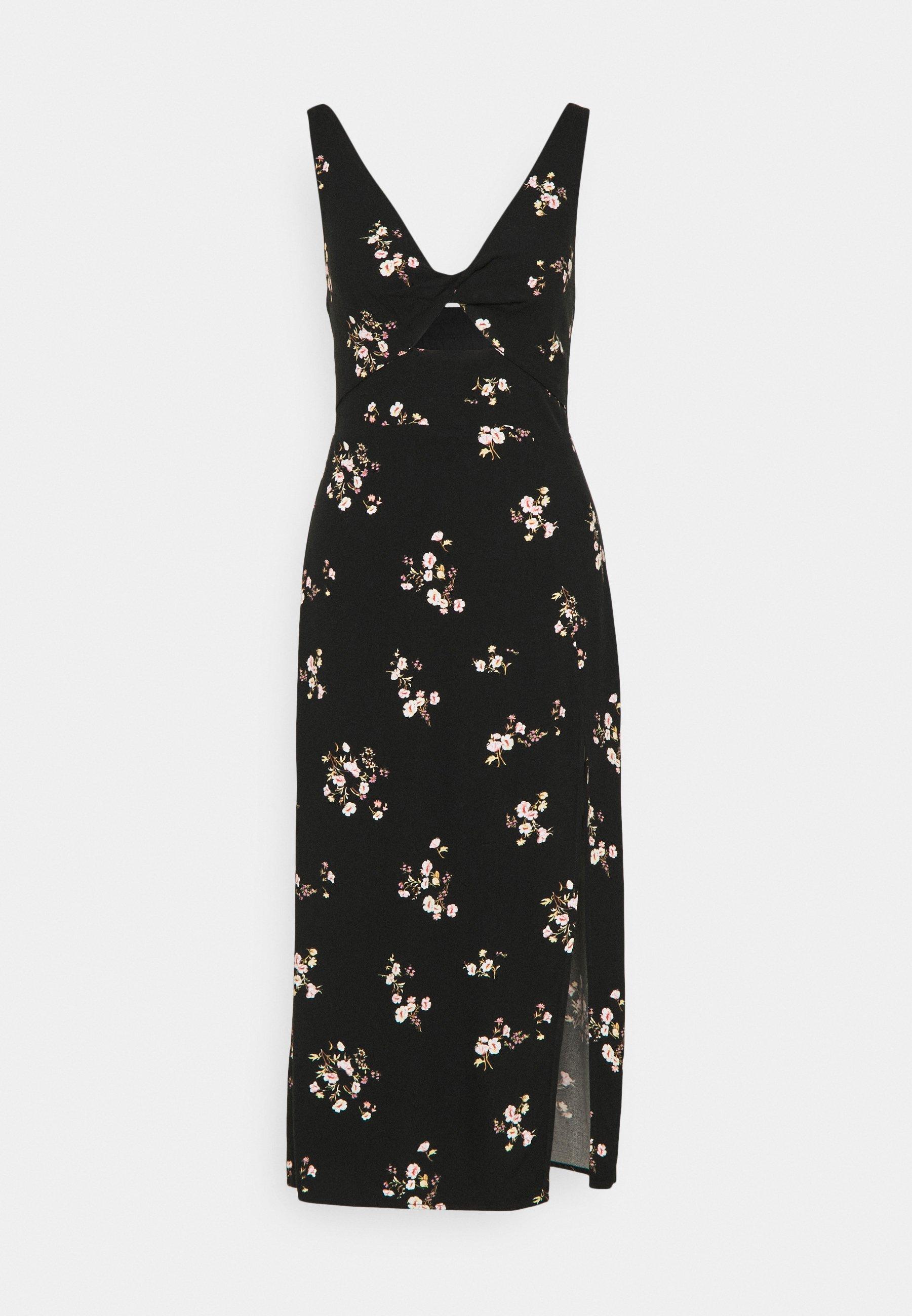 Women SCOOP NECK MIDI DRESS - Day dress