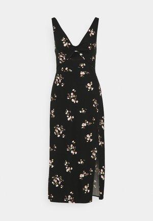 SCOOP NECK MIDI DRESS - Sukienka letnia - black