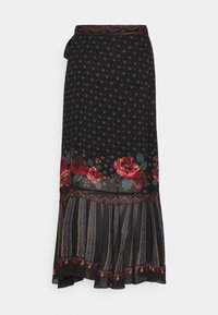 Farm Rio - EMBROIDERED FLORAL WRAP SKIRT - Pencil skirt - black - 6