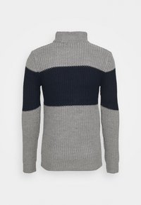 Brave Soul - REINOLD - Jumper - silver grey marl/ french navy - 7
