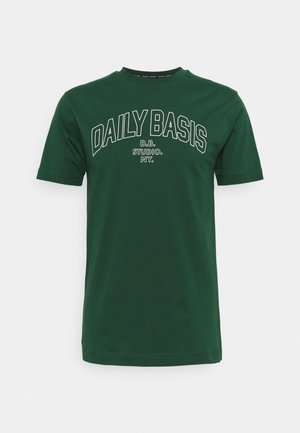 DAILY COLLEGE TEE UNISEX - T-shirts med print - green