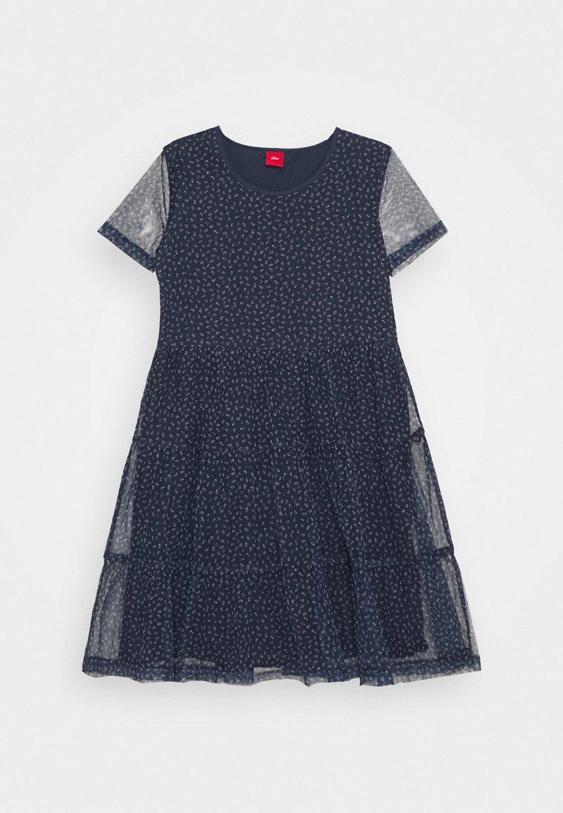 s.Oliver - KURZ - Day dress - allure blu