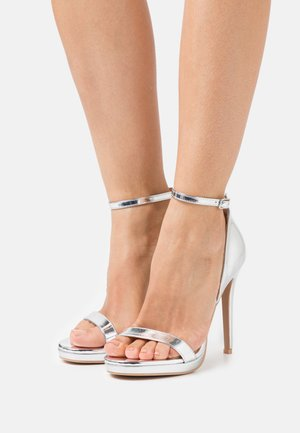 REAGAN - Sandaler med høye hæler - silver