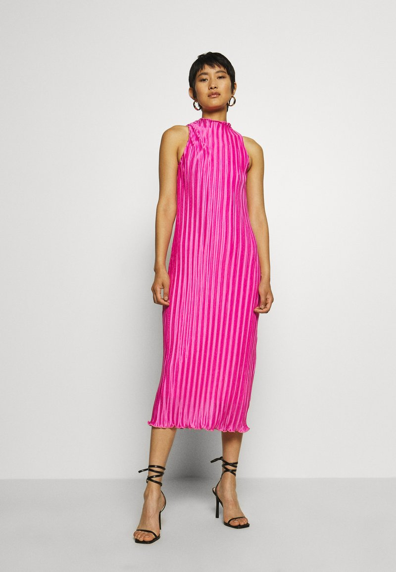 Who What Wear - PLISSE DRESS - Occasion wear - pink