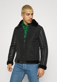 Brave Soul - CAESAR - Faux leather jacket - black - 0