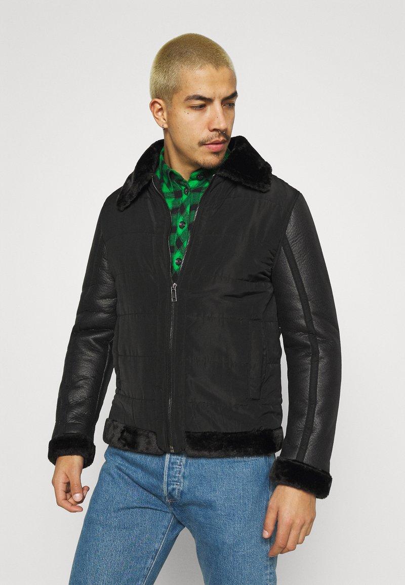 Brave Soul - CAESAR - Faux leather jacket - black