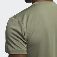 adidas Performance - AEROREADY TRAINING SLIM SHORT SLEEVE TEE - Triko s potiskem - green - 7