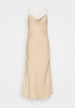 VMCENTURY OPEN BACK DRESS - Galajurk - gilded beige