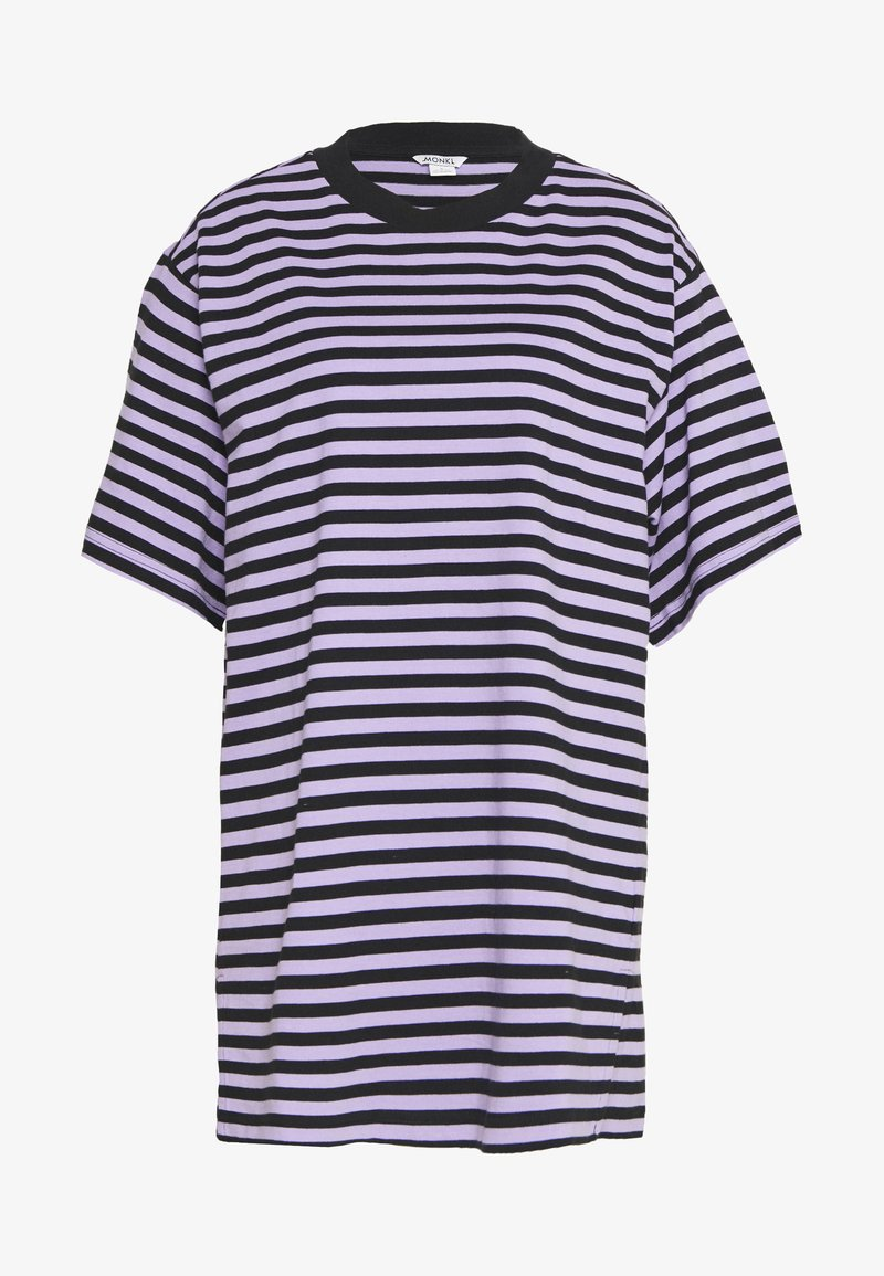 Monki - TORI TEE - Print T-shirt - purple/black