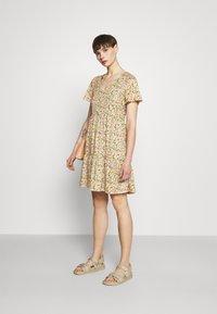 Vila - VINATALIE SHORT DRESS - Jersey dress - dark olive - 1