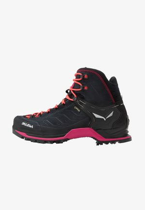 MTN TRAINER MID GTX - Hiking shoes - asphalt/sangria