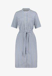 Betty & Co - MIT AUFGESETZTER BRUSTTASCHE - Shirt dress - weiß/blau - 2