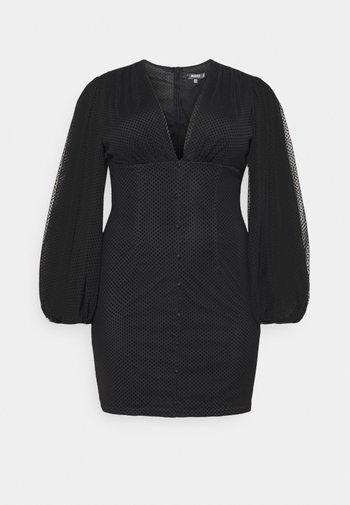 BUTTON THROUGH MINI DRESS - Robe de soirée - black