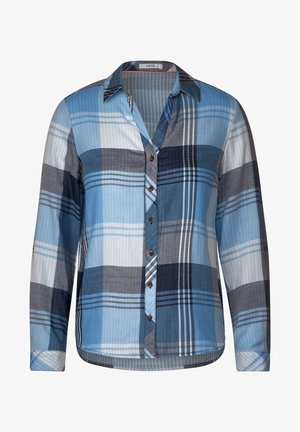 MIT KARO - Button-down blouse - blau