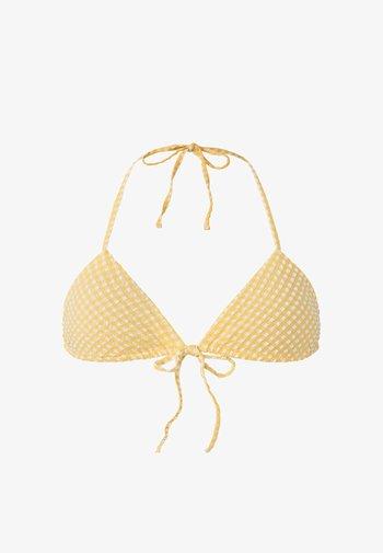 GINGHAM  - Bikini top - yellow