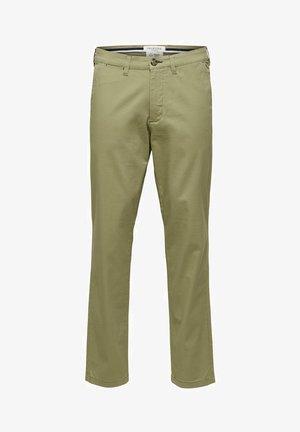 SLHSLIM-MILES - Chino kalhoty - aloe