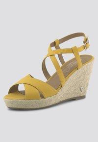 TOM TAILOR - Sandalen met hoge hak - yellow - 2