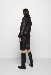 STUDIO ID - BIKER JACKET - Leather jacket - black/dark grey - 2