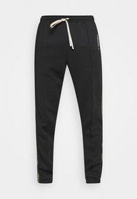 TRACKPANTS LOUNGIN BLACK - Pantalones deportivos - black/green