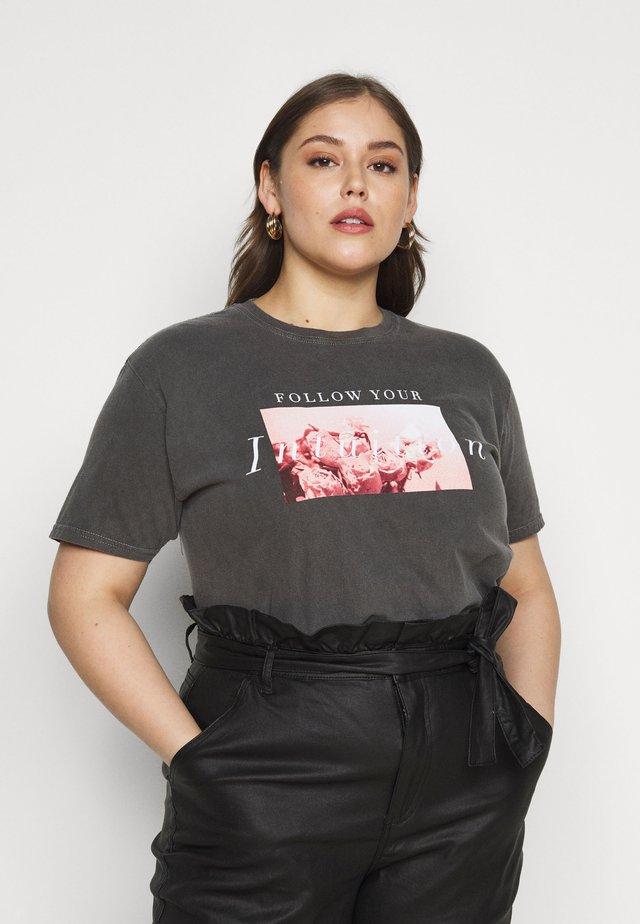 FLORAL GRAPHIC - T-shirts med print - dark grey