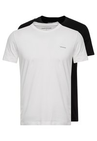 Calvin Klein Jeans - SLIM FIT 2 PACK - Basic T-shirt - bright white/black beauty - 0
