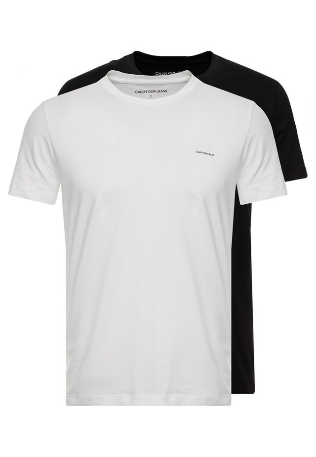 SLIM FIT 2 PACK - T-shirt basic - bright white/black beauty