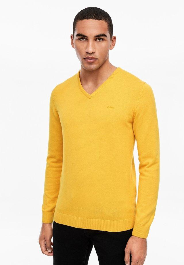 Jumper - yellow melange
