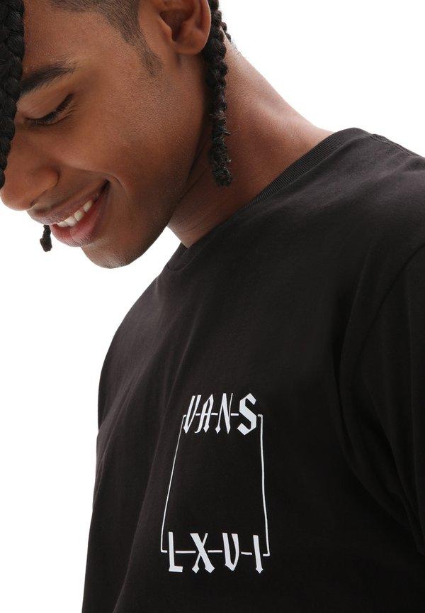 Vans T-shirt z nadrukiem - black/czarny Odzież Męska NYMS