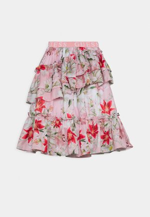 JUNIOR SKIRT - A-lijn rok - pink/red