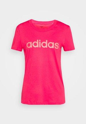 ESSENTIALS SPORTS SLIM SHORT SLEEVE TEE - Print T-shirt - powerpink/signalpink
