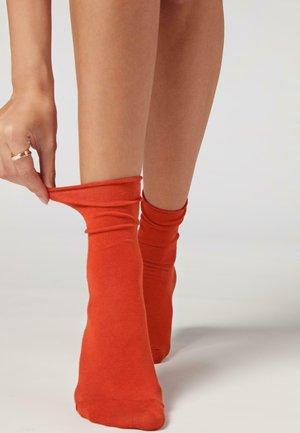 Socks - brick orange