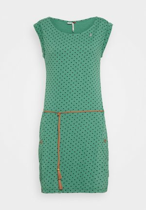 TAG DOTS - Jersey dress - green
