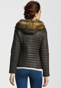 Oakwood - Leather jacket - khaki - 1