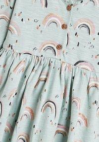 Next - RAINBOW PRINT - Day dress - teal - 2