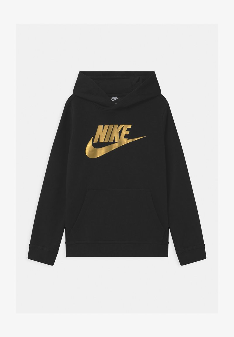 Nike Sportswear - CLUB - Bluza z kapturem - black/metallic gold