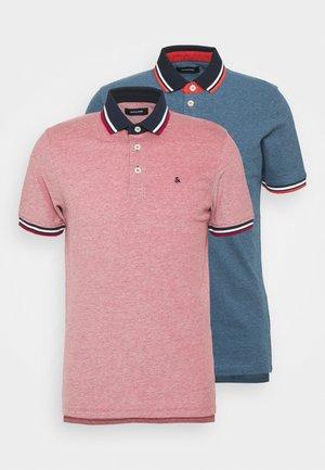 JJEPAULOS 2 PACK - Polo shirt - rio red