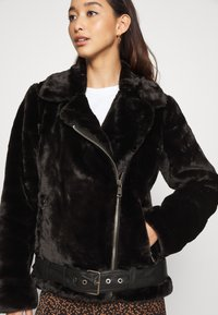 ONLY - ONLMARY BIKER - Winter jacket - black - 4