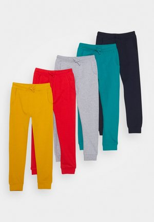 5 PACK  - Pantalon de survêtement - red/light grey/ochre