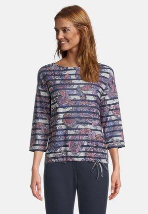 Sweatshirt - dark blue/red
