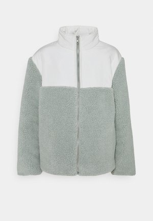 CONTRAST ZIP UP JACKET - Lehká bunda - beige/green
