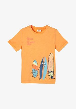 MIT SURFER-MOTIV - Print T-shirt - light orange