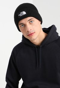 The North Face - LOGO BOX CUFFED BEANIE UNISEX - Čepice - black - 1