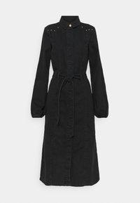 PIECES Tall - PCROSIE MIDI STUD DRESS - Denim dress - black - 0